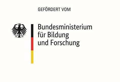 """Logo des BMBF mit Zusatz """"Gefördert vom"""""""